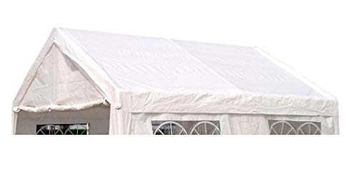 DEGAMO Ersatzdach Dachplane für Partyzelt 3x4 PE Weiss 180g/m², incl. Spanngummis