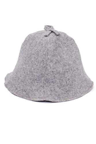 Ger3as Saunahut Wolle mit Stickerei für Damen und Herren, Wellness Mütze Premium Qualität