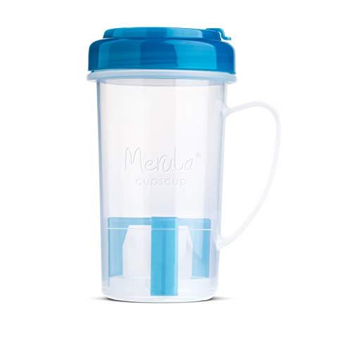 Merula Cupscup Mikrowellen-Dampfreinigungsbecher für Menstruationstassen, Transparent-blau
