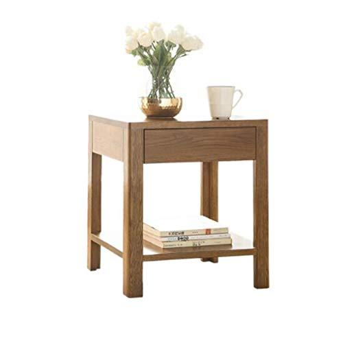 Nachttische Beistelltische Alle Massivholz Einzelne Schublade Lampe Tisch Schrank Tief Nussbaum Farbe Schlafzimmer Schrank Eiche Seitenschrank 45 * 35 * 50cm