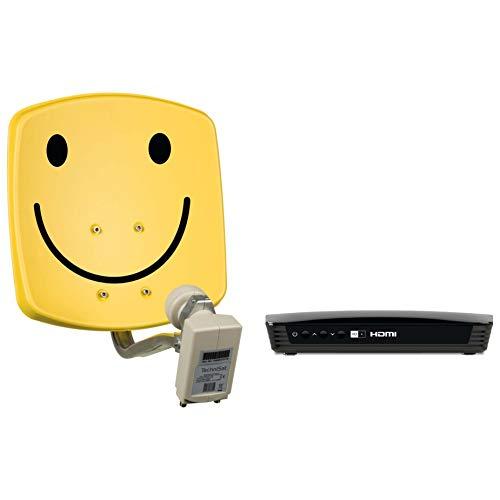 TechniSat Digidish 33, Universal-Twin-LNB - Smiley-gelb