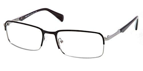 Prada Montures de lunettes Pour Homme 61Q/V - LAH-1O1: Matte Brown / Gunmetal