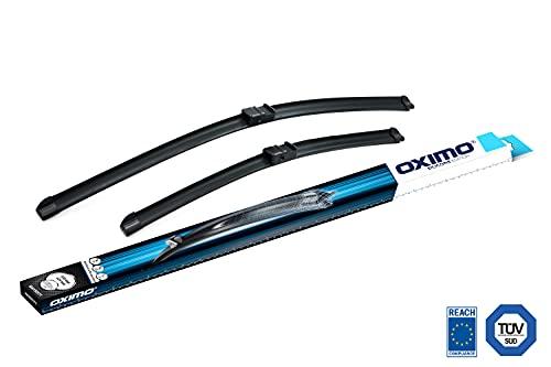 OXIMO WA350575 Silicone Edition scheibenwischer dedizierter Set für Frontscheibe 650 mm/425mm 2 Turnier, Focus II Cabrio, CC, SW, 207+, Set of 2
