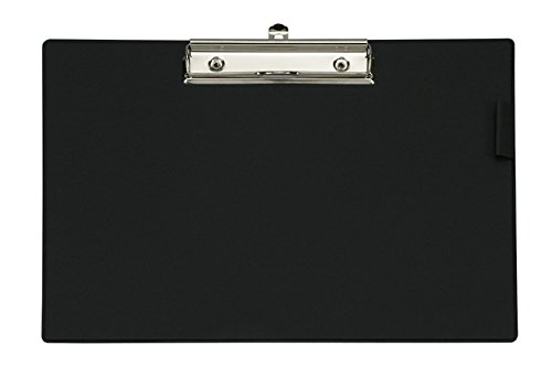 Maul Schreibplatte mit Folienüberzug, Klemmbrett, DIN A4 quer, 8 mm Klemmweite, Schwarz