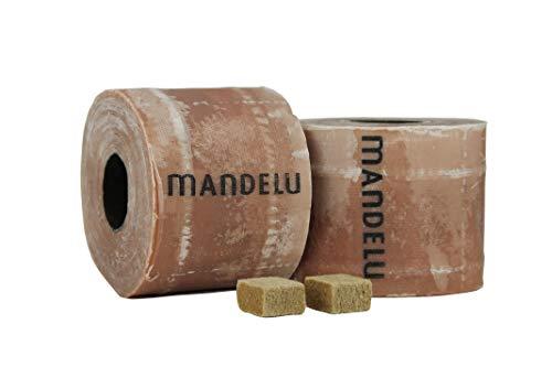 Mandelu Wachsrollen 2 Stück mit Anzündwürfeln