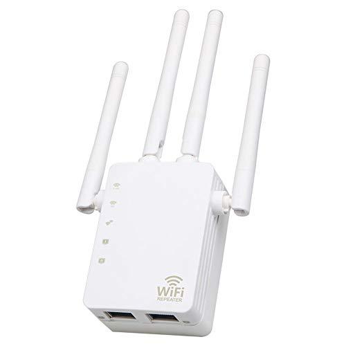 JUNERAIN CA 1200Mbps inalámbrico 2.4G / 5G Doble Banda WiFi repetidor Router 4 Antenas Altas