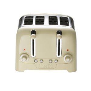 Dualit 4 Slice Toaster Lite High Gloss in Creme - 46202 - ** mit UK-Stecker-Adapter geliefert **