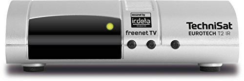 TechniSat EUROTECH T2 IR - DVB-T2-Receiver (mit kartenlosem Irdeto-Zugangssystem für freenet TV, USB, HDMI, Audio-Ausgang digital/optisch, Fernbedienung) silber