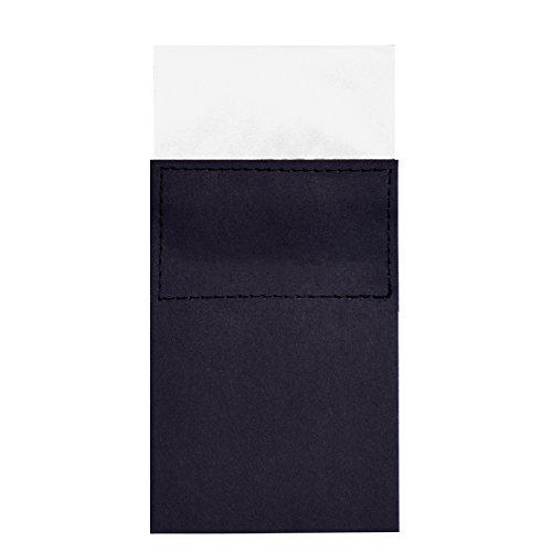DonDon Pañuelo de bolsillo para hombres plegado cuadrado con cartón tamaño ajustable...