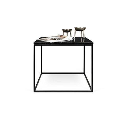 Paris Prix - Temahome - Table D'appoint Gleam 50cm Marbre Noir & Métal Noir