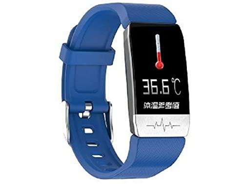 T1S Smart Fitness Healthcare Pulsera, Bluetooth Link pulsera con medición de temperatura en tiempo real, reloj inteligente para monitoreo de frecuencia cardíaca/presión arterial
