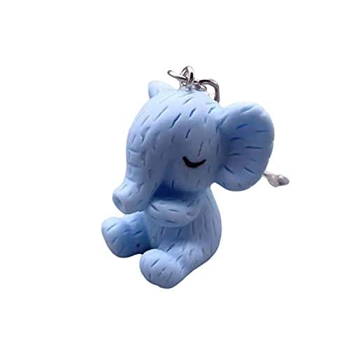 Juego de 2 llaveros de elefantes, para el coche, para mujer, hechos a mano