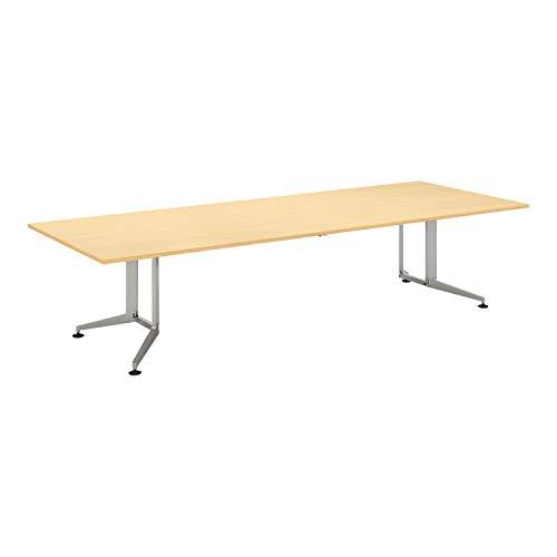 コクヨ ミーティングテーブル WT-300シリーズ WT-303P1M 長方形天板 配線なし 塗装脚 メラミン天板/ライトナチュラル 幅320×奥行120cm