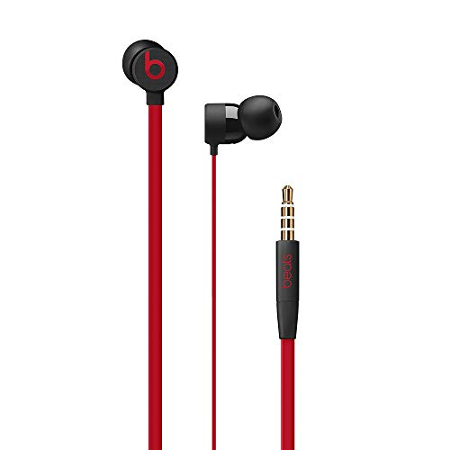 urBeats Wired Earphones With 3.5mm Plug - Tangle Free Cable, Magnetic Earbuds, Built In Mic And Controls - Defiant Black-Red