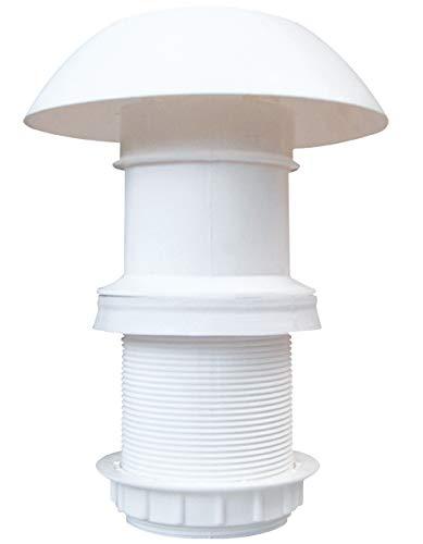 AVDISTRIBUTION Chimenea de escape para caravanas de termoplástico de 60 mm de diámetro (descarga de exhalaciones)