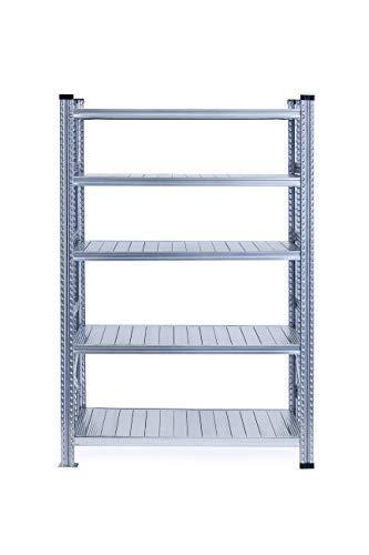 Metalsistem Scaffale ad Incastro, Dimensioni 2000x600x1200, 5 livelli di carico, Acciaio zincato, Campata iniziale