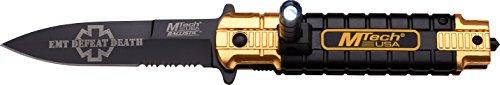 MTech USA Taschenmesser,  schwarz/Gold, MT-A859OR