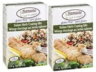 Namaste Foods Gluten Free Italian Herb Coating Mix, 6 Oz. (Pack of 2)