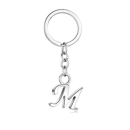 JewelBeauty Buchstaben-Anhänger, Legierung, 26 Buchstaben, einfacher Stil, Metall Medium silber