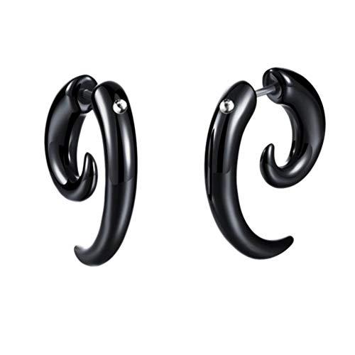 BoburyL 1pc Hombres Mujeres Punk Cuerno del oído Pendientes Snail Horn Stud Hip Hop del oído del Desgaste del Club del Partido de la joyería