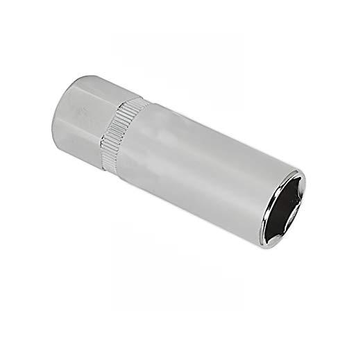 "Zündkerzen-Stecknuss BE-Tool 1/2\"" 3/8\"" 14-21 mm 6-kant Steckschlüsselsatz Antrieb Handwerkzeug für Zündkerzen Demontage Hülsenschlüssel (2 Stück), silber"