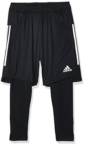 adidas Mens Con20 2in1 SHO Leggings, Black/White, M