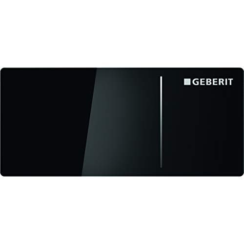 Geberit Sigma 70 242813SJ1 Actuator Plate Replacement Glass Black for 2 Flushes