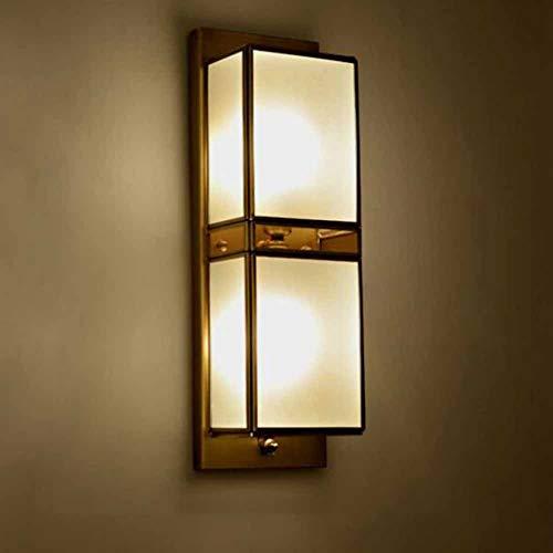 SXFYWYM wandlamp, rechthoekig, modern, van koper