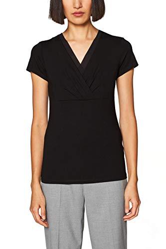 ESPRIT Collection Damen 999EO1K801 T-Shirt, Schwarz (Black 001), Large (Herstellergröße: L)