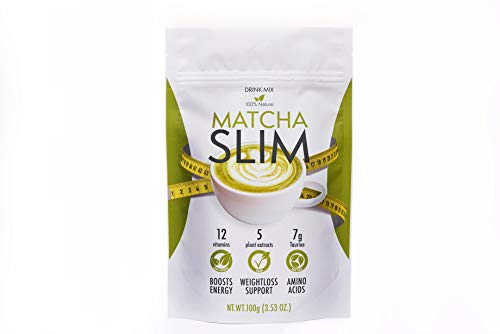 Matcha Slim Shake, 100g | Matcha Green Tea Extract |Taurine |Citric Acid extracts | Detox | Energy | Weight Loss Support