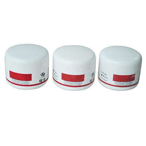 Tashido Nagels Helder Wit Roze Acryl Poeder Builder voor Nagel Art Manicure