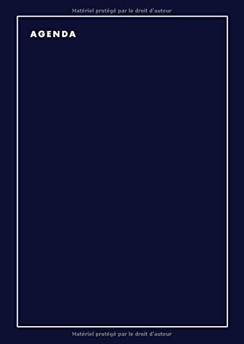 Agenda 2020 2021 A4: 1 jour par page Bleu Format A4 - Juillet 2020 à Juin 2021 - Taille: 21 x 29,7 cm