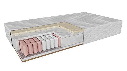 Hyggelia Multipocket-Matratze | 7 Zone | mit Latex-Kokosnuss MONFALCONE Höhe: 20 cm H3/H5 mittelhart/sehr hart | Wende-Matratze | Abnehmbare antiallergische Abdeckung (90 x 200 cm)