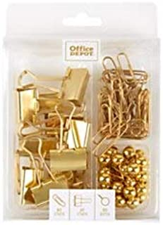 Office Depot Brand Clip Kit, Assorted Sizes, 5-20 Sheets, Gold