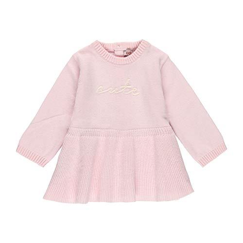 boboli - Vestido Tricotosa Bebé | Vestido Niña Bebé, Talla de 3 Meses | 100% Algodón | Vestido Niña | Vestido Invierno | Recién Nacida | Color Rosa Palo