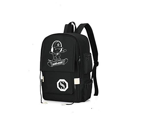 Travel and leisure computer student backpack with luminous water anti-theft back