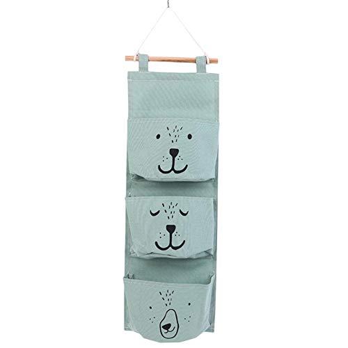 Chicieve Tissu de coton Mur Porte de placard /à suspendre Sac de rangement Coque poches Home Organiseur Sac de rangement pour chambre denfant//porte