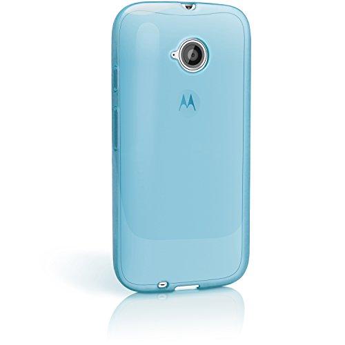 iGadgitz u5380, Handy TPU und Displayschutzfolie Kompatibel mit Motorola Moto E 2. Generation XT1524, blau (transparent Blue)