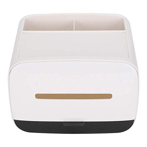 Caja de pañuelos multifuncional Innovador organizador de escritorio de doble capa Organizador de servilletas para baño, cocina y oficina
