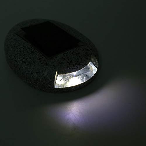 Lámpara de roca al aire libre impermeable, luces solares de 3000k 24-36 horas Hora de iluminación 1 * SMD2835 1.2V 400mA con resina para la decoración del patio al aire libre