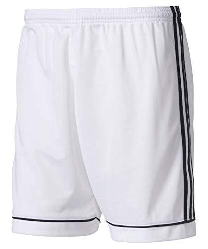 adidas PANTALONCINI SPORTIVI BJ9227 SQUAD MODA UOMO SPORT WHITE Taglia L (Talla produttore: L)