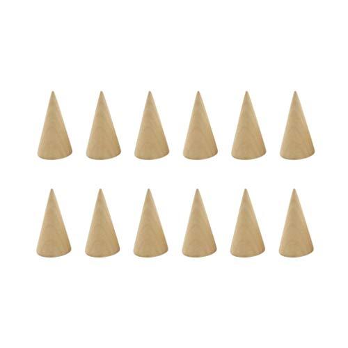 HEALLILY - Espositore a forma di cono in legno, 12 pezzi