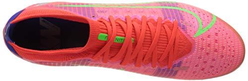 Nike Unisex Vapor 14 PRO AG Soccer Shoe, BRT Crimson MTLC Silver Indigo Burst White Rage Green, 9 UK