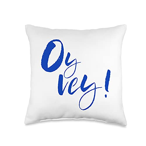 Oy Vey Funny Yiddish Jewish Hanukkah Gifts Yiddish Funny Jewish Oy Vey Throw Pillow, 16x16, Multicolor