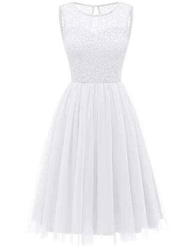 Bbonlinedress tüllrock faschingskostüme Damen tütü Cocktailkleid Tüll Kleid Brautjungfern Partykleid Abendkleid White M