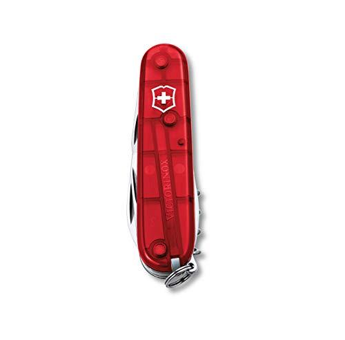 Victorinox Navaja de Oficial Spartan, color Rojo Transparente