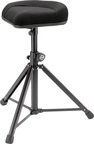 Konig & Meyer 14053-000-55 Verstellbarer Hocker aus Stoff, 560 mm bis 930 mm - Schwarz