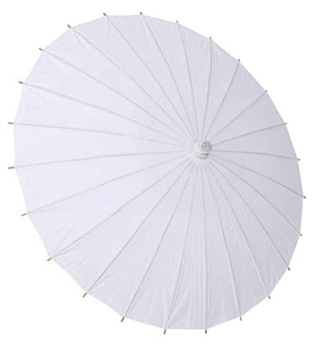 HJQL Ölpapier Regenschirm, Mode Baumwolle Regenschirm, Für Braut Holzgriff Dekoration Weiß Regenschirm (42Cm / 16,5)