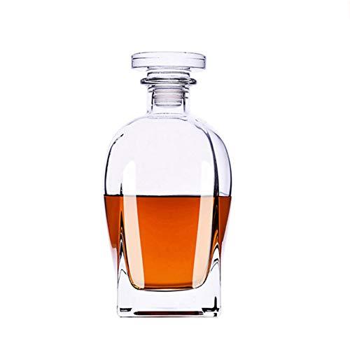 Y&W Ensemble De Verres À Whisky Carafe en Verre De Fabrication Italienne avec Cristal sans Plomb, Ensemble De Carafe À Whisky Parfait De 700 ML pour Bourbon d'alcool Écossais, Va Au Lave-Vaisselle