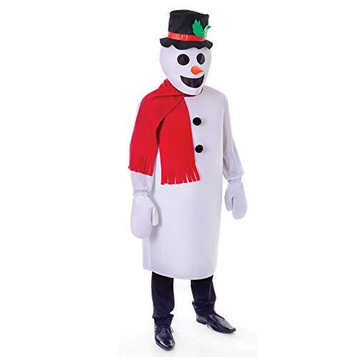 Unbekannt - Disfraz de muñeco de nieve para hombre, talla única (AC793)